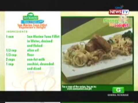 Sarap to Heart - Vicor Aliwalas Part 2: San Marino Tuna Fillet Vegetarian's Delight